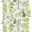 Marimekko White/Green/Orange Kauriin Kääntöpiiri Fabric