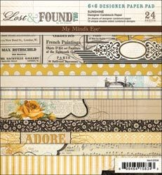 """Lost/Found 2 Sunshine Forever Paper Pad 6""""X6"""" 24 Sheets"""