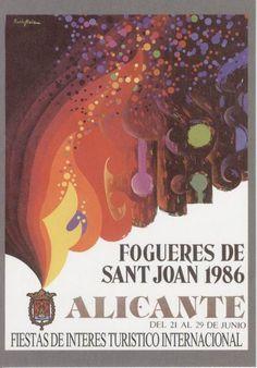 Cartel de Hogueras del año 1986 Alicante.