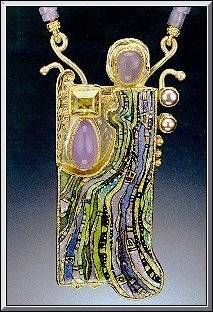 Marianne Hunter fine enamel jewelry. I think we should save up and chip in and share this. Deal??