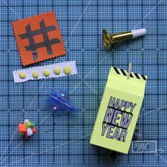 Milk Carton DIY box- This awesome, kid-friendly Neon New Year's Eve Party by Tiffany Johnson is so incredible, in part, due to her using the eclips2 machine to create everything she needed for this party- including these fun milk carton boxes! Be sure to check out this DIY for some ingenious party ideas!