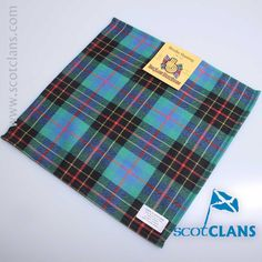 Pure wool pocket square in Brodie Hunting Tartan - available from ScotClans