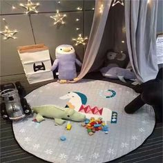 Round Kids Game Play Pad Mat Blanket Baby Toy Storage Bags Organizer City Goods Co. Baby Toy Storage, Toy Storage Bags, Baby Play, Baby Toys, Kids Toys, Carpet Sale, Rugs On Carpet, Crawling Baby, Nursery Decor Boy