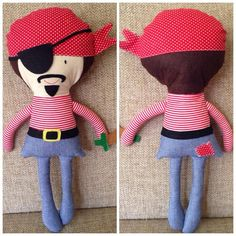 Angelart Pirate Joe says AHOY / Excellent gift. by angelartbyozlem, $20.00
