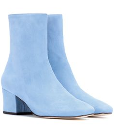 Shop Dorateymur designer fashion for women across dozens of stores in a single destination. Baby Blue Shoes, Light Blue Shoes, Blue Suede Shoes, Blue Boots, Suede Booties, Ankle Booties, Bootie Boots, Velvet Ankle Boots, Leather Wedge Sandals