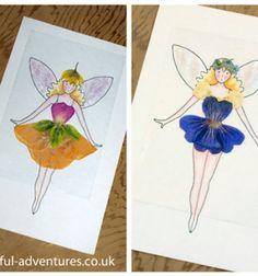 DIY Flower fairy dress up doll (with cnageable outfits) // Öltöztethető ( virág ) tündérek préselt virágokkal // Mindy - craft tutorial collection //