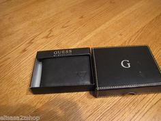 Men's Guess passcase billfold wallet ID 0091-3088/01 black leather NEW NWT