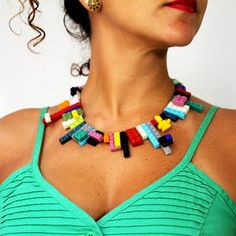 WANT. Lego necklace.