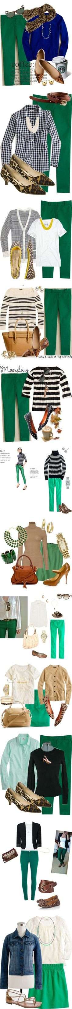 """""""Green Capris"""" by robbiesjd on Polyvore"""