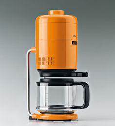 Orange Coffee machine, by Dieter rams for Braun