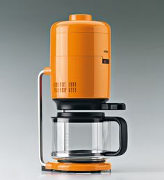 Orange Coffee machine, by Dieter rams for Braun