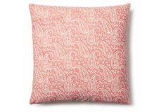 Avalon 20x20 Cotton Pillow, Pink