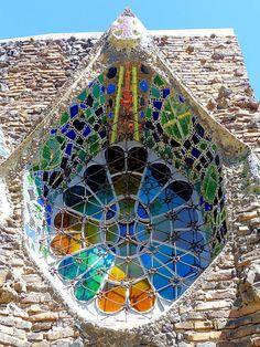 Cripta de la Colònia Güell 1908-1915 Architects: Antoni Plàcid Guillem Gaudí i Cornet, Josep Maria Jujol i Gibert Barcelona