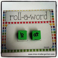 Roll-a-Word from Miss Kindergarten: FREEBIES... Centers!