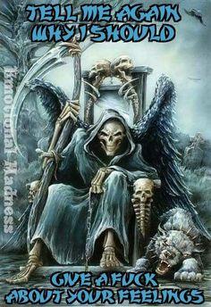 Gothic and black and white pictures - ↬Ɠυηηαя ᵈ'ᴬʳᵗᵉ↬* - Death Reaper, Grim Reaper Art, Dark Artwork, Skull Artwork, Reaper Drawing, Reaper Tattoo, Beautiful Dark Art, Bild Tattoos, Skull Wallpaper