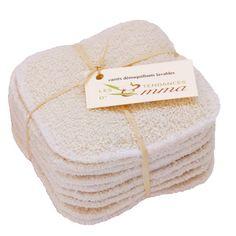 Recharge 10 carrés démaquillants lavables - Les Tendances d'Emma. EML Distribution