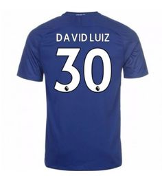 Billiga Chelsea David Luiz 30 Hemmatröja 17-18 Kortärmad Neymar, Messi, Stamford, Chelsea Fc, Ronaldo, Premier League, Football, Fashion, Soccer