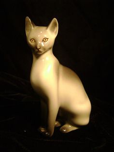 Electronics, Cars, Fashion, Collectibles, Coupons and Painted Porcelain, Hand Painted, Cat Lamp, Lots Of Cats, Cat Boarding, Pebble Painting, Vintage Cat, Animal Sculptures, Siamese Cats