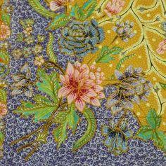 Peranakan style Batik.. Batik Pattern, Pattern Paper, Fabric Patterns, Batik Kebaya, Batik Dress, Batik Art, African Masks, African Fabric, Tribal Art