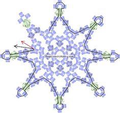 Beaded Snowflake Pattern