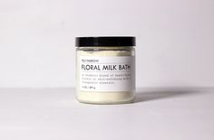 An aromatic blend of beautifying florals in skin-softening milks and therapeutic minerals.