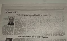 Surprisingly good article on mental health from The Catholic Missourian