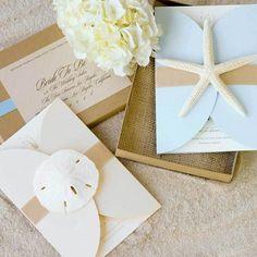 Coastal Ava - Shimmer - Unique Wedding Invitation by The Green Kangaroo