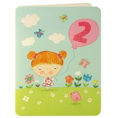 Girl Age Two Card