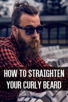 How to Straighten Your Curly Beard From beardoholic.com