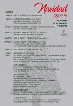 programación completa de la Navidad 2017 en Ribadesella