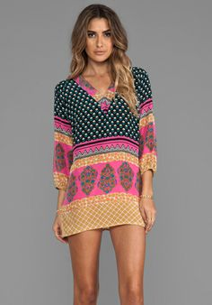 Tolani Chandra Dress in Black Pink. Great coverup