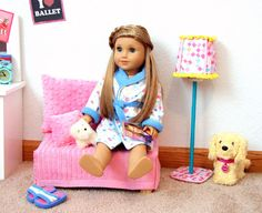 American Girl Doll Play: Doll Craft - Make a Standing Lamp for Your Doll