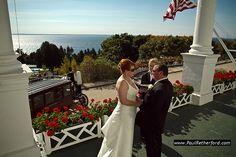 Grand Hotel Wedding Photo Mackinac Island Northern Michigan http://www.paulretherford.com  #northernmichigan #puremichigan