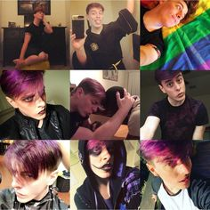 "62.7k Likes, 536 Comments - Thomas Sanders (@thomassanders) on Instagram: ""Best nine of 2017! You guys loved the purple, the gay, the makeup, the lefties, and that Hufflepuff…"""