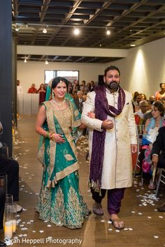 Sweet indian bride walking down the aisle https://www.maharaniweddings.com/gallery/photo/142946