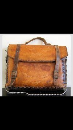 1970s Vintage Bag Vintage Leather Messenger Bag f75f22631ea72