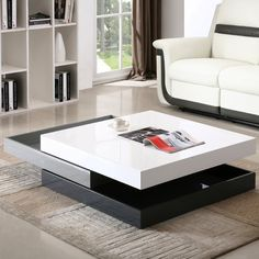 Best Living Room Table Design For Amazing Home Design - naomi news Coffee Table Design, Cool Coffee Tables, Coffee Table With Storage, Modern Coffee Tables, Modern Table, Modern Sofa, Coffe Table, Futon Design, Canapé Design
