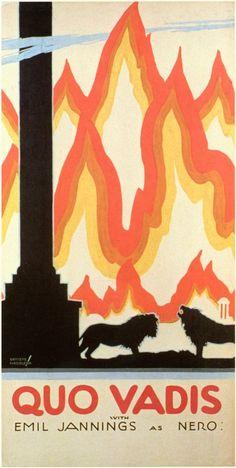 2/01/15   9:45p   'Quo Vadis''  Vintage Movie Poster   Emil Jannings  as Nero 1925