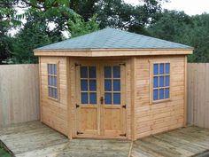 Backyard Shed Idea, (Corner Shed). I really do like this shed.