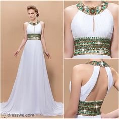 Green Beaded Prom Dress,Backless Prom Dress,Fashion Prom Dress,Sexy Party Dress,Custom Made Evening Dress Elegant Dresses, Pretty Dresses, Beautiful Dresses, Dream Dress, Dress Skirt, Dress Up, Evening Dresses, Prom Dresses, Formal Dresses
