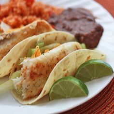 Honey-Lime Fish Tacos.   tried and loved!