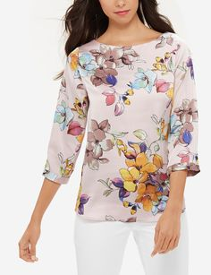 Floral Ruffle Back Blouse | LTD Luxe Printed Ruffle Blouse | THE LIMITED