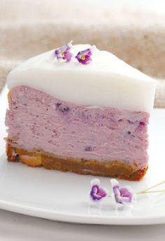 자색고구마 레어치즈 케이크