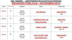 Cruzada dos Militares Espíritas Núcleo de Resende Convida para as Palestras Públicas do mês de Novembro/2015 – Resende – RJ - http://www.agendaespiritabrasil.com.br/2015/11/04/cruzada-dos-militares-espiritas-nucleo-de-resende-convida-para-as-palestras-publicas-do-mes-de-novembro2015-resende-rj/