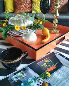 Popołudniowo-tarasowo-kolorowo ☺ #niedzielnepopoludnie #kochamweekend #kawa #taras #ogród #relaks #chwilotrwaj #kolory #koloryjesieni #dynie #sundayafternoon #sundayfun #loveweekends #coffeelover #garden #relaxtime #pumpkins #pumpkinmaniaclara #fallcolours #falldecor #homedecor