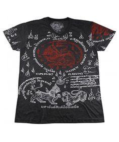 26ac1b91 muay thai tattoo sak yant mma T-Shirt Black / WK12.2 size XL - CV12O1CMV8O.  Mma T ShirtsMens ...