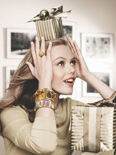 Photoshoot: Frida Gustavsson for Neiman Marcus The Holiday Book 2012