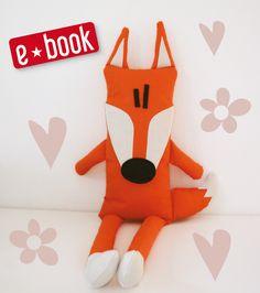Nähanleitung für einen Schmusefuchs mit Tasche / diy sewing instruction: soft fox with bag inside made by Doodah via DaWanda.com