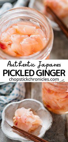 Bento Recipes, Veggie Recipes, Asian Recipes, Fermentation Recipes, Canning Recipes, Japanese Street Food, Japanese Food, Japanese Pickled Ginger Recipe, Kitchens