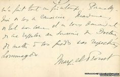 An extract of a letter written by Marcel Proust to his neighbour.